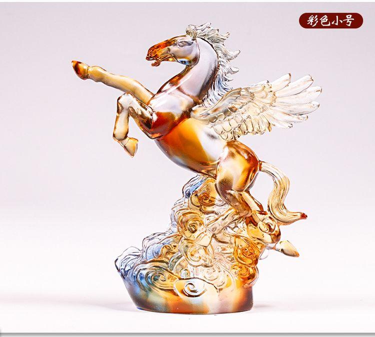 1JB03007 Crystal Horse Statue Liuli Sale (14)
