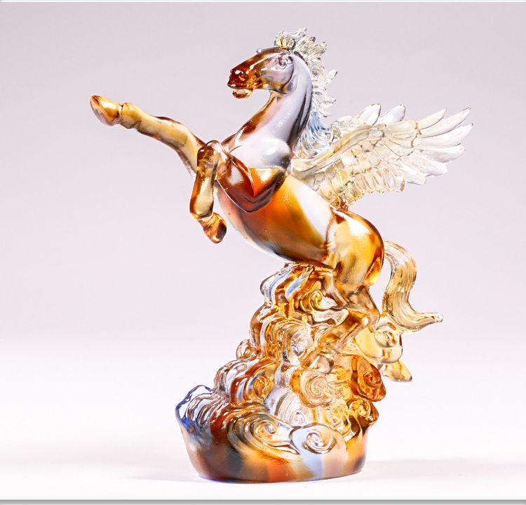 1JB03007 Crystal Horse Statue Liuli Sale (15)