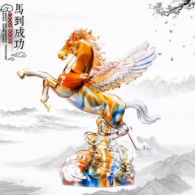 1JB03007 Crystal Horse Statue Liuli Sale (22)