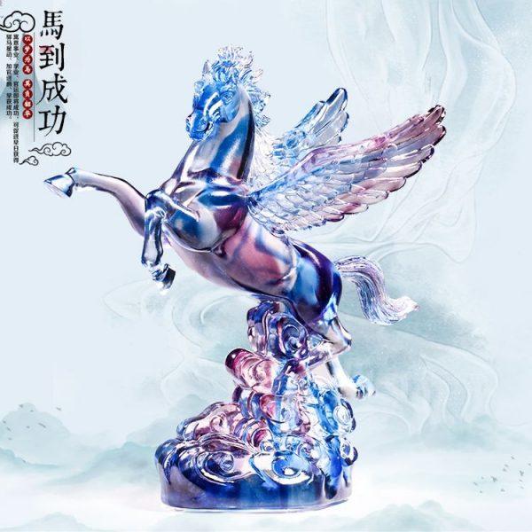 1JB03007 Crystal Horse Statue Liuli Sale (24)