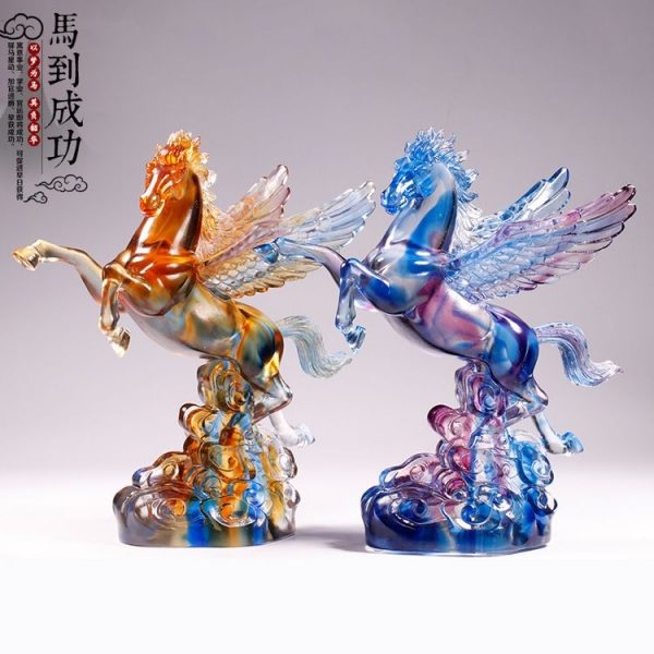 1JB03007 Crystal Horse Statue Liuli Sale (25)