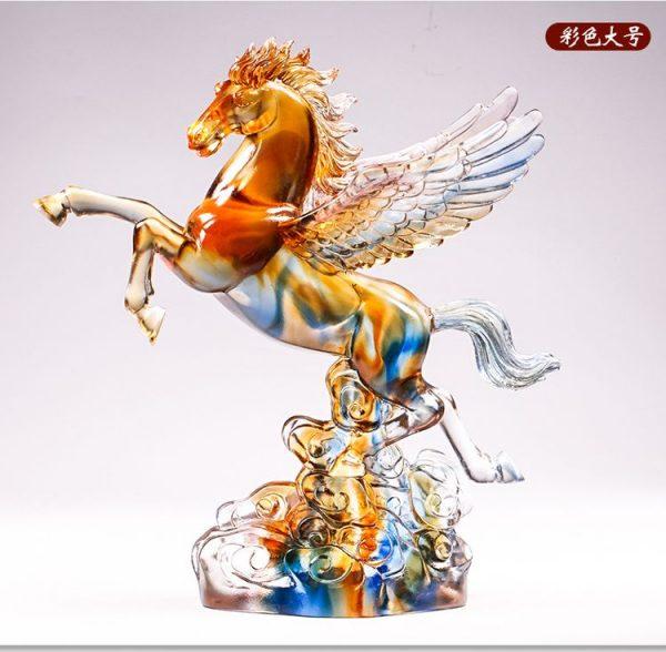 1JB03007 Crystal Horse Statue Liuli Sale (33)
