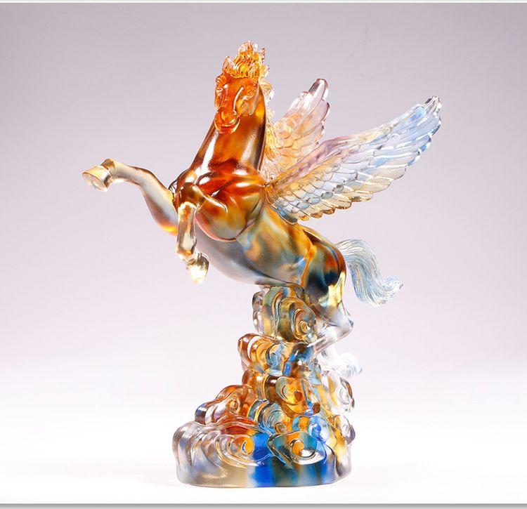 1JB03007 Crystal Horse Statue Liuli Sale (8)