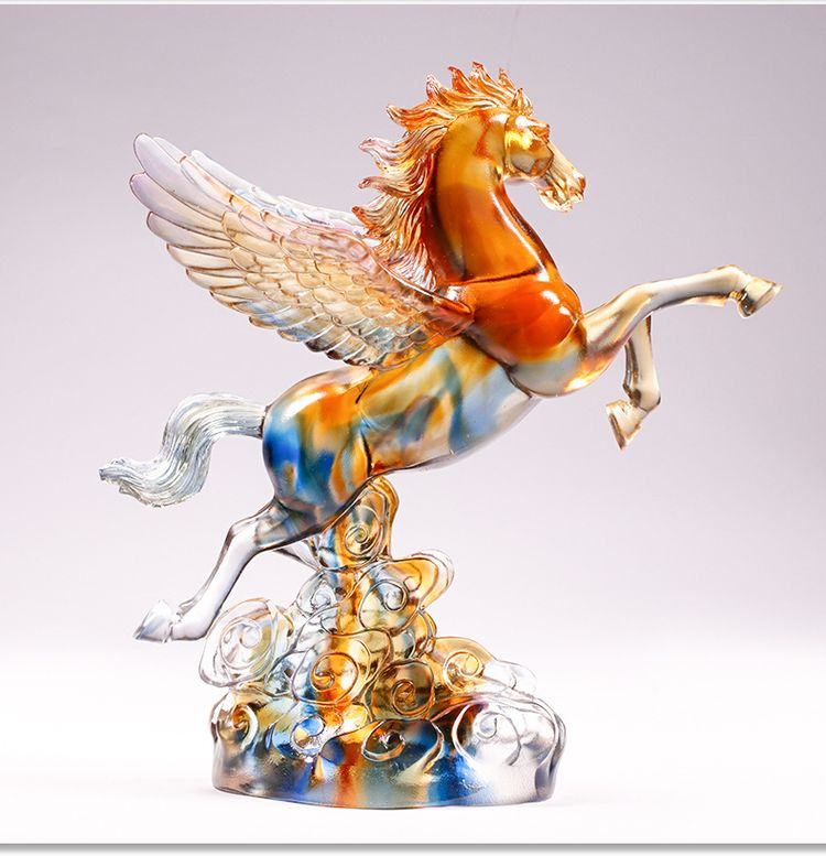 1JB03007 Crystal Horse Statue Liuli Sale (9)