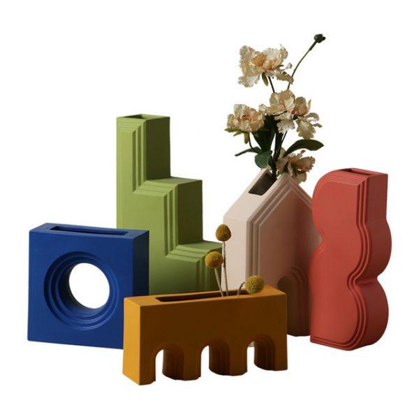 1JC21027 Geometry Vase China Maker (1)