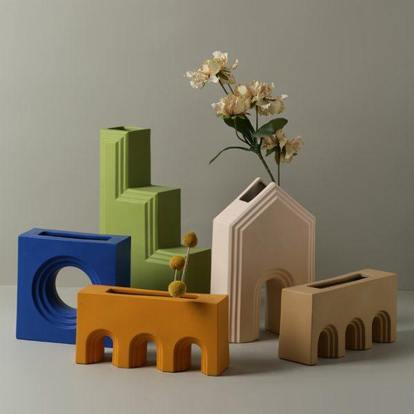 1JC21027 Geometry Vase China Maker (4)