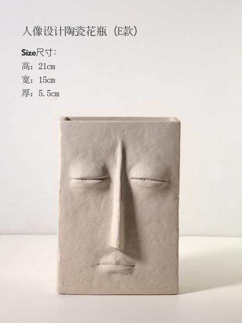 1JC21041 Ceramic Face Vase Online Sale (19)