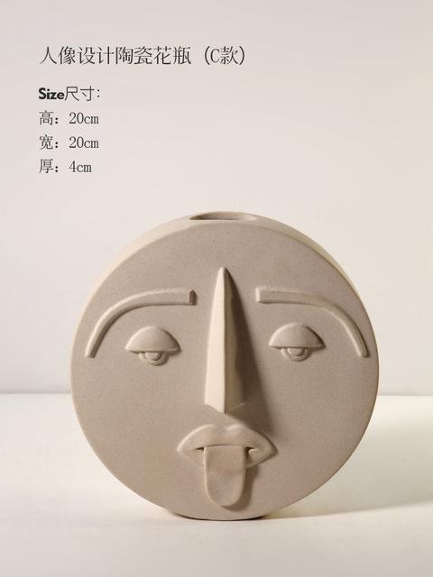1JC21041 Ceramic Face Vase Online Sale (22)