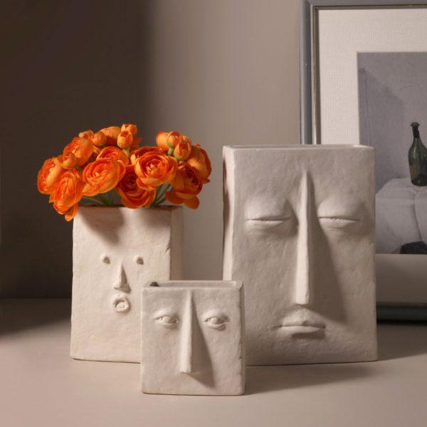 1JC21041 Ceramic Face Vase Online Sale (3)