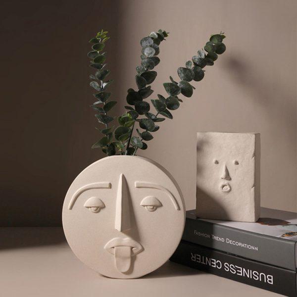1JC21041 Ceramic Face Vase Online Sale (5)