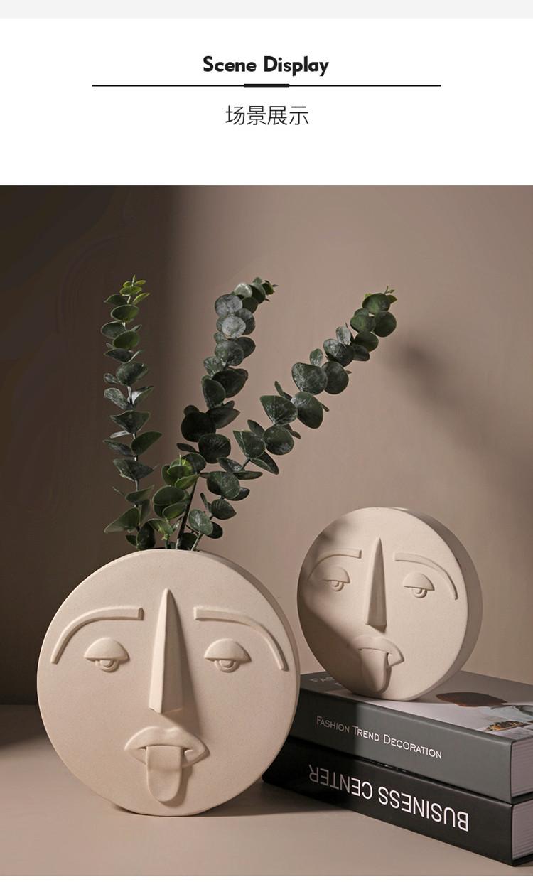 1JC21041 Ceramic Face Vase Online Sale (9)