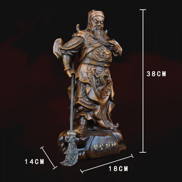1J824001 tượng quan công guan gong statue (3)