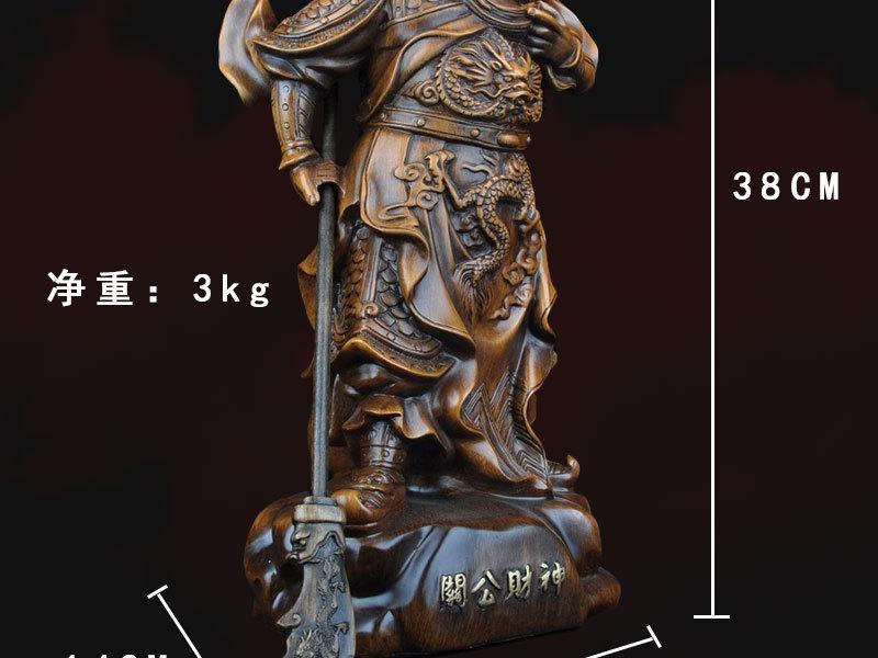 1J824001 tượng quan công guan gong statue detail (6)