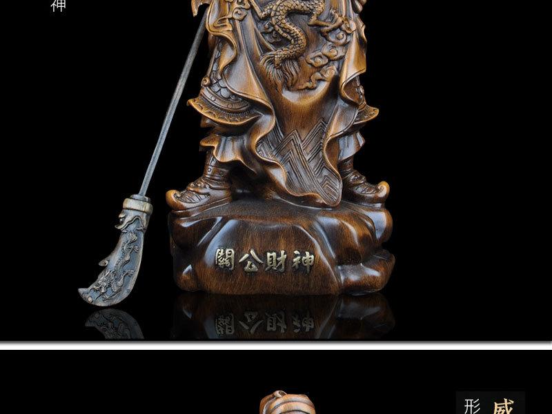 1J824001 tượng quan công guan gong statue detail (8)