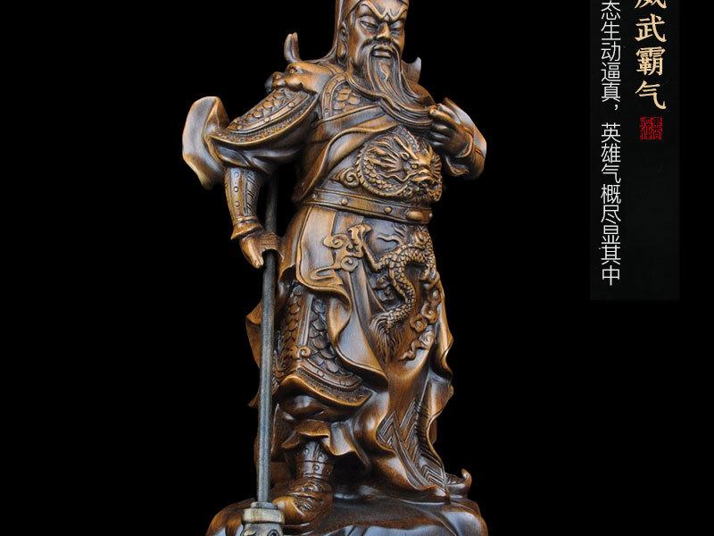 1J824001 tượng quan công guan gong statue detail (9)