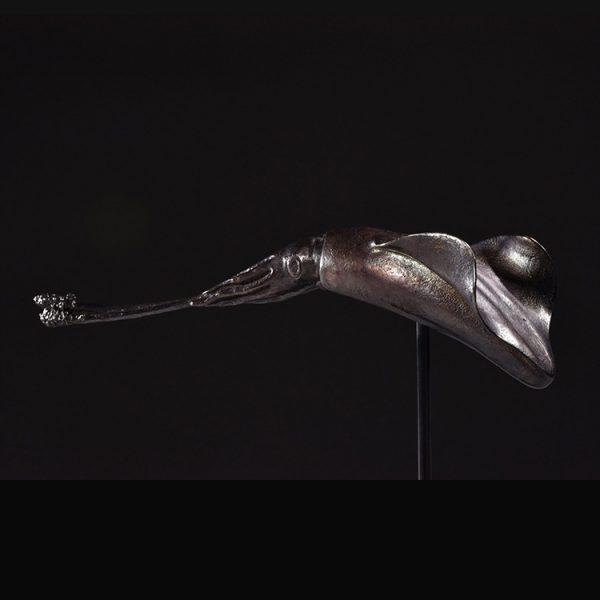1JA16001 Squid Statue Bronze China Maker (2)