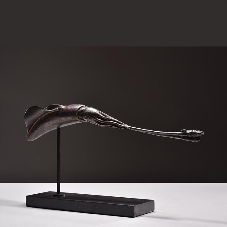 1JA16001 Squid Statue Bronze China Maker (4)