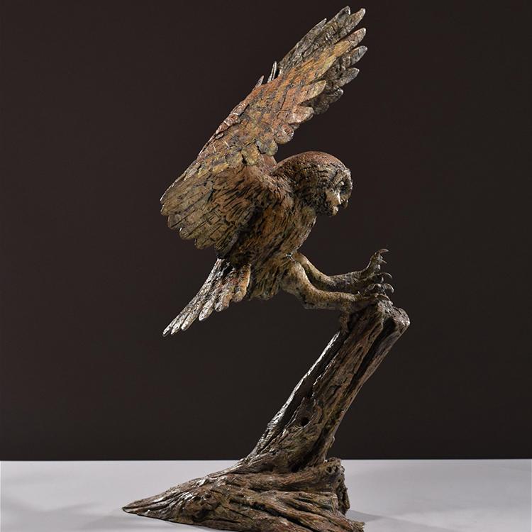 1JA16002 Owl Garden Statue China Factory (4)