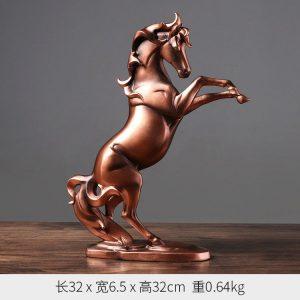 1JA29002 décoration de cheval résine (2)