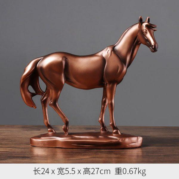 1JA29002 décoration de cheval résine (3)
