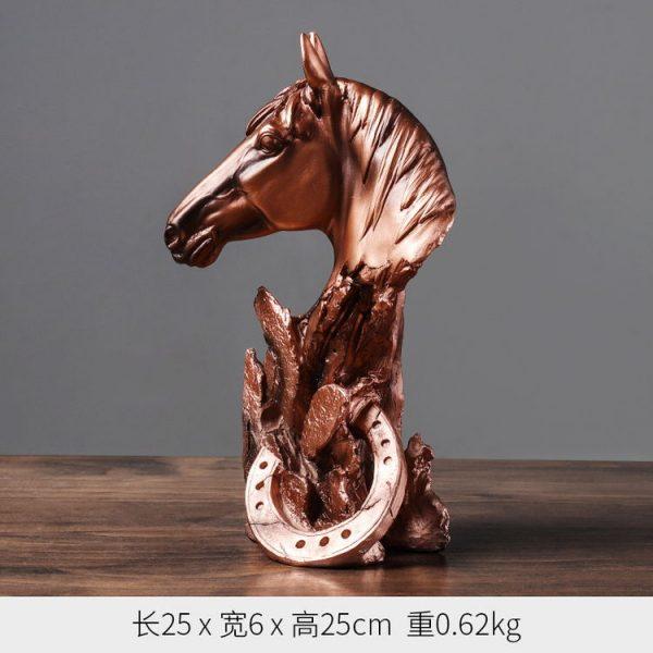 1JA29002 décoration de cheval résine (4)