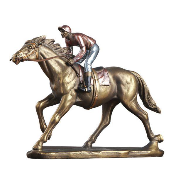 1JA29003 Horse And Rider Statue China Maker (1)