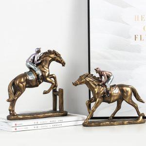 1JA29003 Horse And Rider Statue China Maker (2)