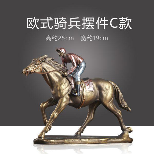 1JA29003 Horse And Rider Statue China Maker (3)