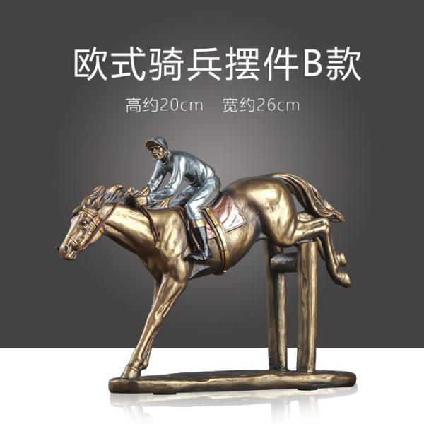 1JA29003 Horse And Rider Statue China Maker (4)