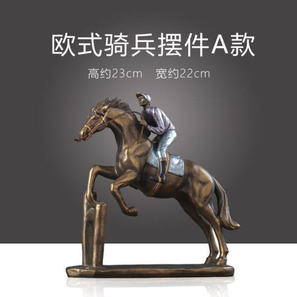 1JA29003 Horse And Rider Statue China Maker (5)