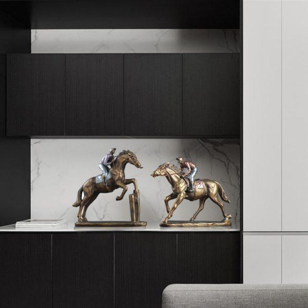 1JA29003 Horse And Rider Statue China Maker (6)