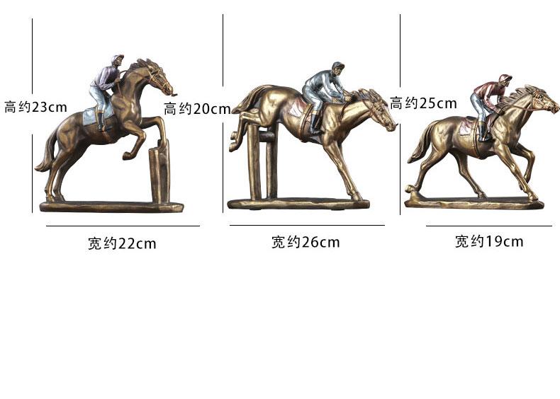 1JA29003 Horse And Rider Statue China Maker Detail (14)
