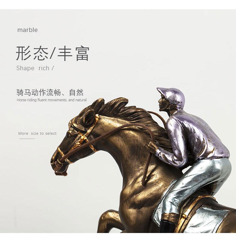 1JA29003 Horse And Rider Statue China Maker Detail (3)