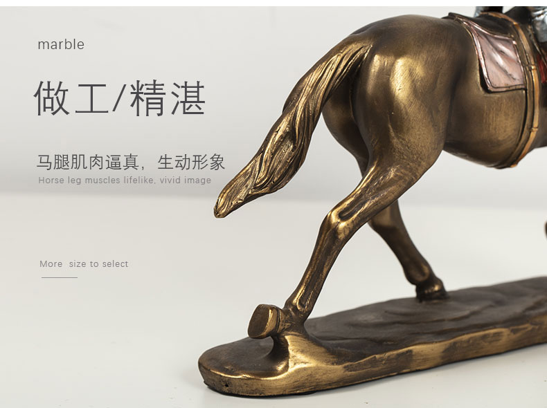 1JA29003 Horse And Rider Statue China Maker Detail (5)