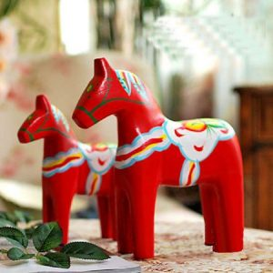 1JA29005 Dalecarlian Horse Statue Online Sale (3)