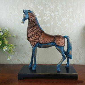 1JB03005 Statue Cavalli In Resina (11)