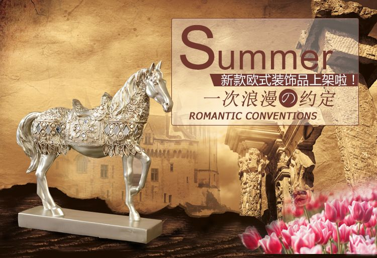 1JB03015 Horse Statue Home Decor Online Sale (5)