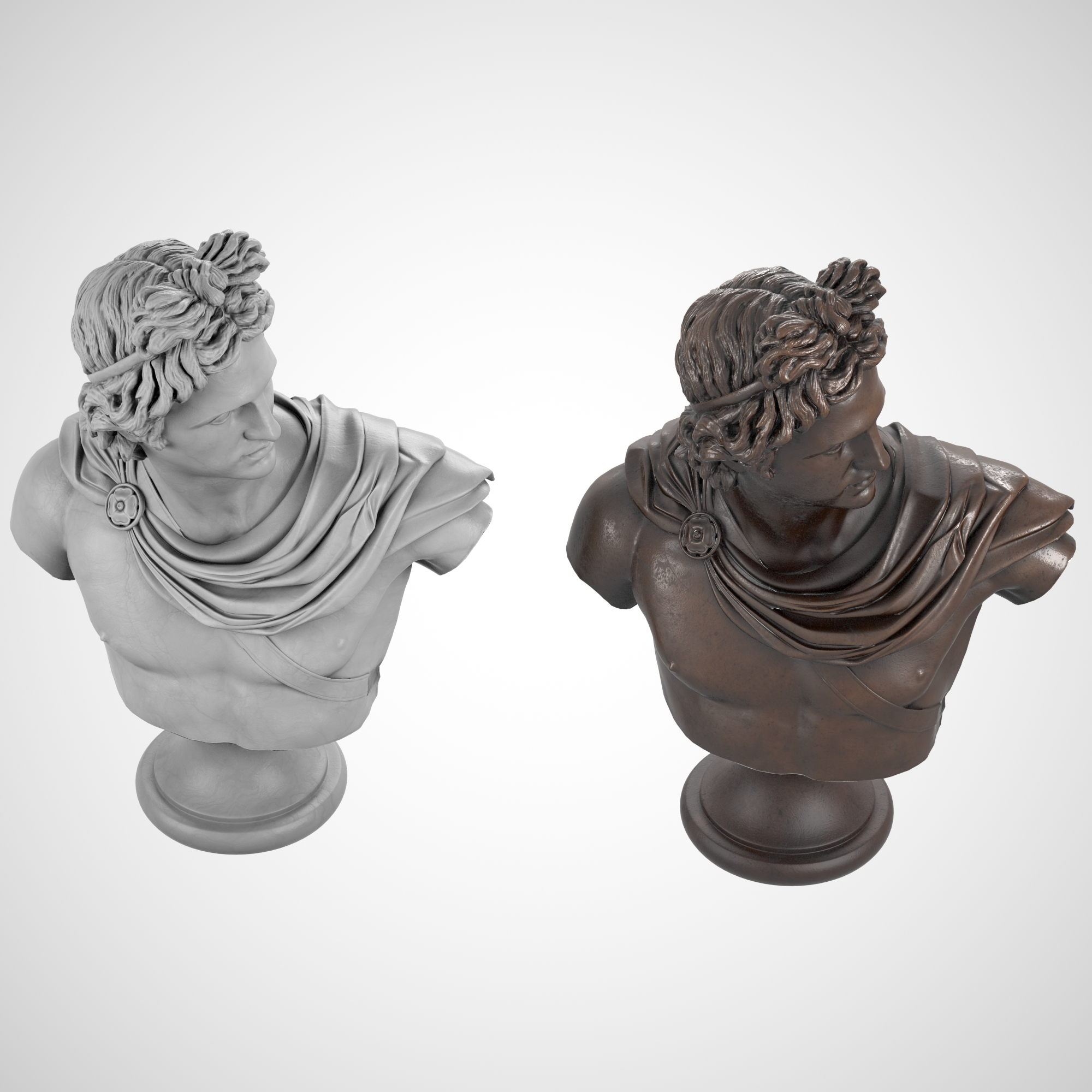 1I731004 Apollo Bust Statue Statua Di Apollo (1)
