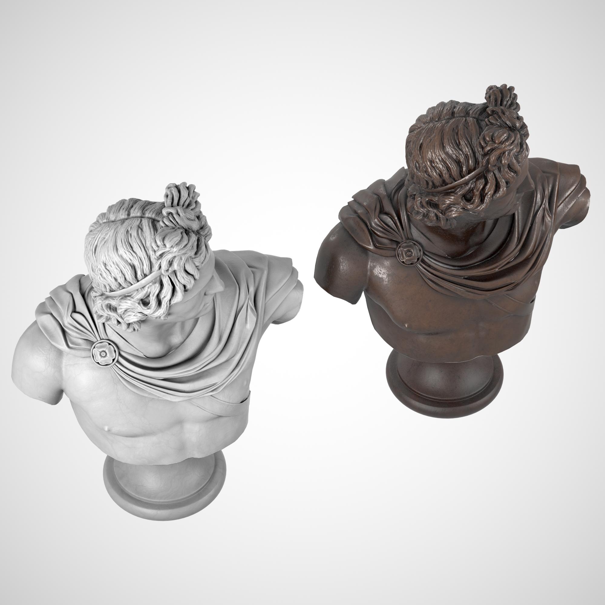 1I731004 Apollo Bust Statue Statua Di Apollo (4)