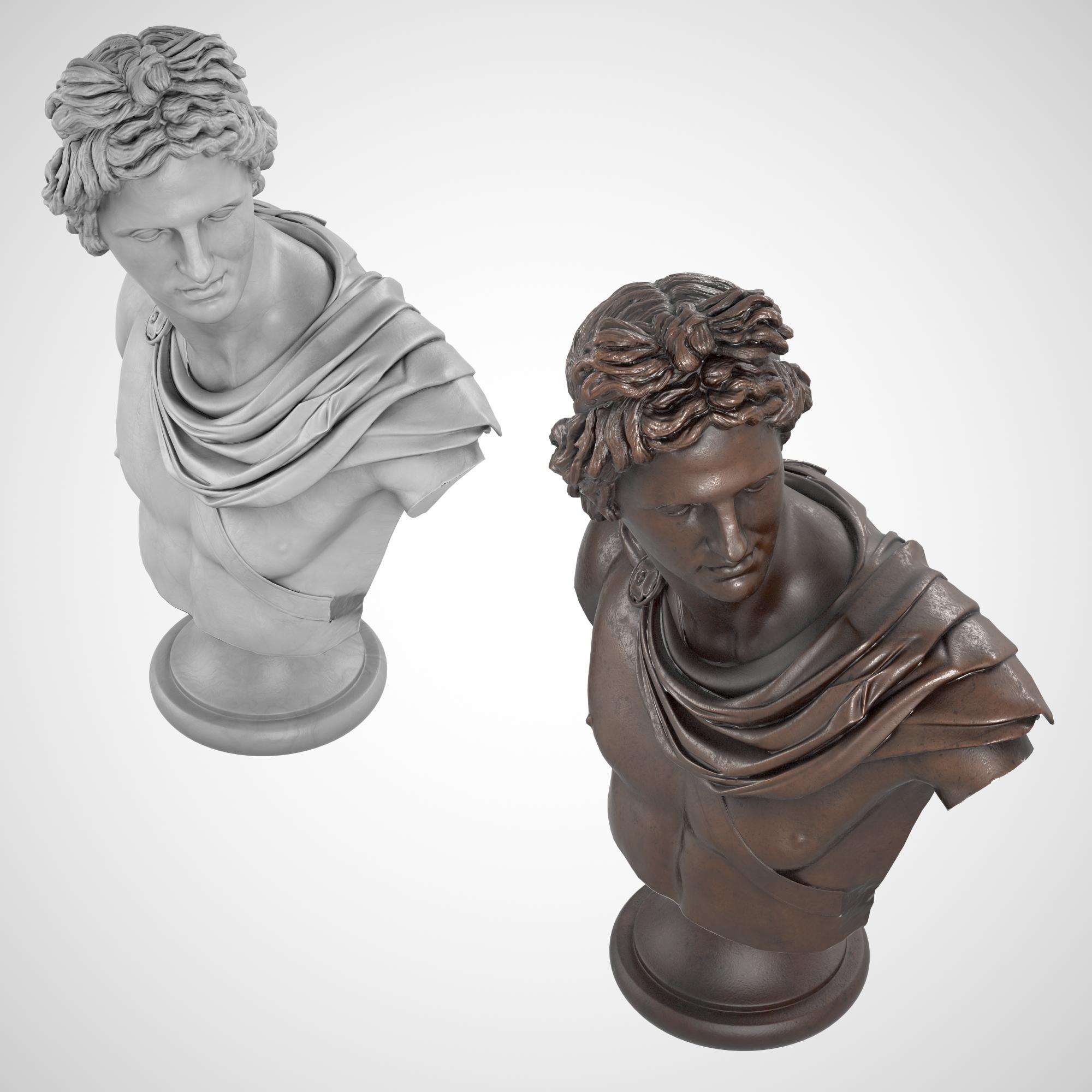 1I731004 Apollo Bust Statue Statua Di Apollo (6)