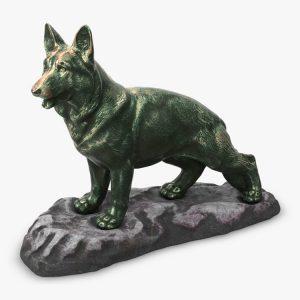 1I801001 Bronze German Shepherd Statue (1)