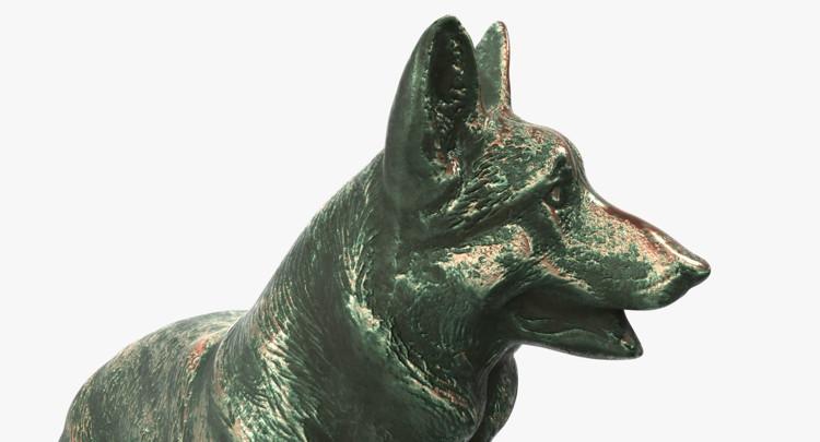 1I801001 Bronze German Shepherd Statue (10)
