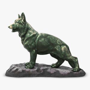 1I801001 Bronze German Shepherd Statue (2)