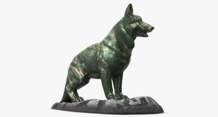 1I801001 Bronze German Shepherd Statue (3)