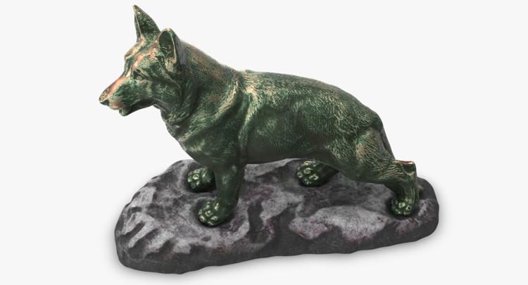 1I801001 Bronze German Shepherd Statue (8)