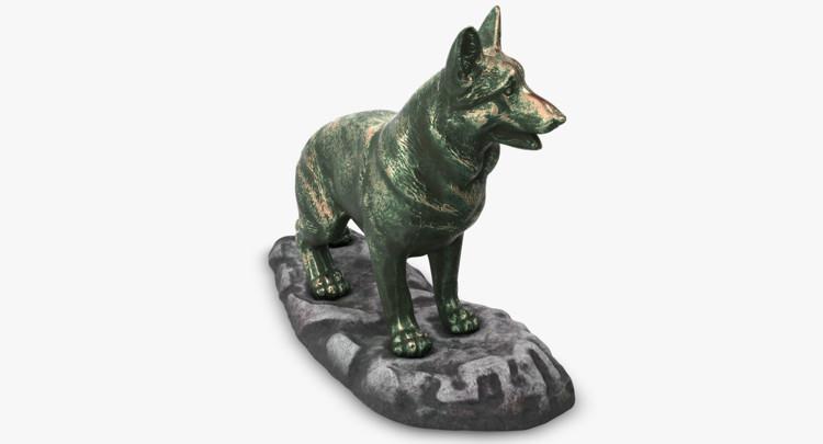 1I801001 Bronze German Shepherd Statue (9)