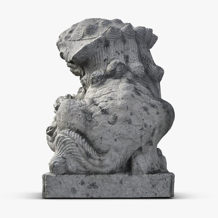1I801009 Fu Dog Statue Stone Carved (3)