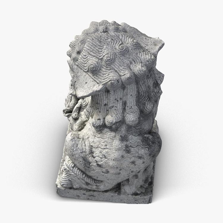 1I801009 Fu Dog Statue Stone Carved (5)