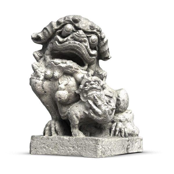 1I801009 Fu Dog Statue Stone Carved (7)