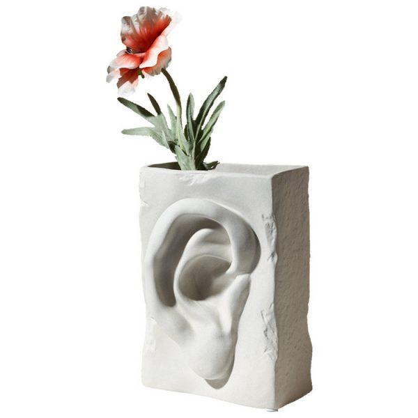 1JC18005 مزهرية أذن سيراميك للبيع عبر الإنترنت